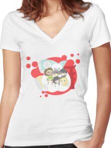 Big Hero 6 Women's Fitted V-Neck T-Shirt
