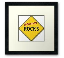 Geology Rocks - Red Framed Print