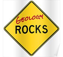 Geology Rocks - Red Poster
