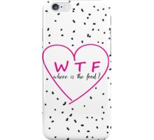 Funny WTF trendy typography pink heart iPhone Case/Skin