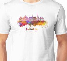 Antwerp skyline in watercolor Unisex T-Shirt