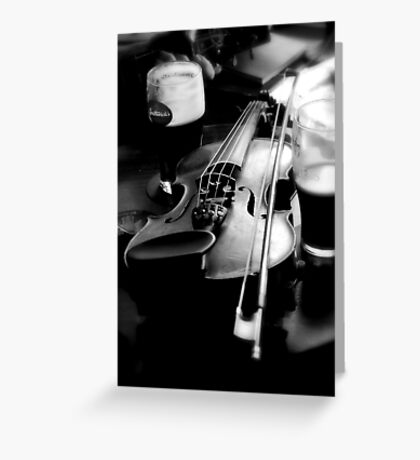 Donegal Fiddle Taking a Break Greeting Card