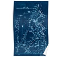 American Revolutionary War Era Maps 1750-1786 591 Map of Orange and Rockland counties area of New York Inverted Poster