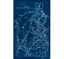 American Revolutionary War Era Maps 1750-1786 591 Map of Orange and Rockland counties area of New York Inverted Photographic Print