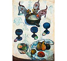 1888 - Gauguin - Still Life with Three Puppies Photographic Print