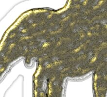 I love my staff Gold Sticker