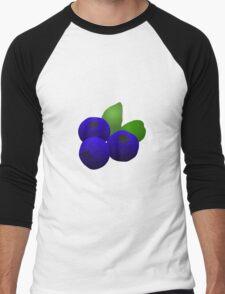 Blueberries Men's Baseball ¾ T-Shirt