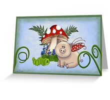 Piggy and Friends Greeting Card