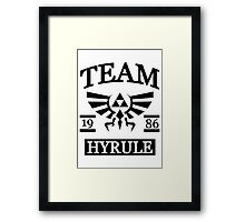Team Hyrule Framed Print