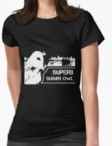 Superb Suberb Owl Womens Fitted T-Shirt