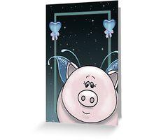 Piggy Portrait Greeting Card