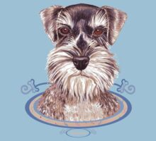 Miniature German Schnauzer  Kids Tee