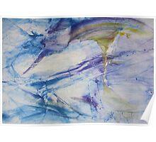 Waterspouts, Tornadoes at Sea - Original Wall Modern Abstract Art Painting Original mixed media  Poster