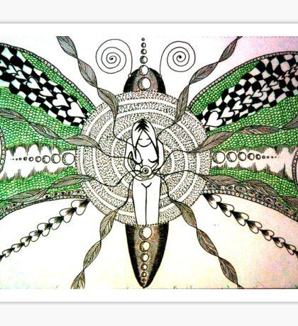 Moth manifestation Sticker