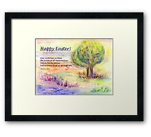 "Easter Greetings  ""Promise of Resurrection"" Framed Print"
