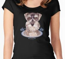 Miniature German Schnauzer dog Women's Fitted Scoop T-Shirt