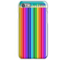 Long Colorful Colored Crayons & Drawing Pencils iPhone Case/Skin