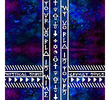 My World is Yours Universe pattern Religious symbols Photographic Print