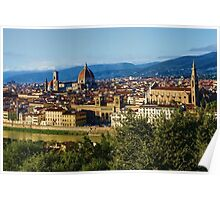 Impressions Of Florence - a View From the Top Poster