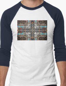 Broken Glass And Rusted Rails Men's Baseball ¾ T-Shirt