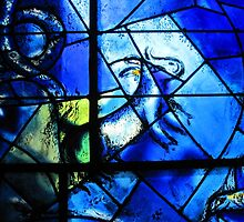 Stained glass window of Chagall - 1 by Roberta Angiolani