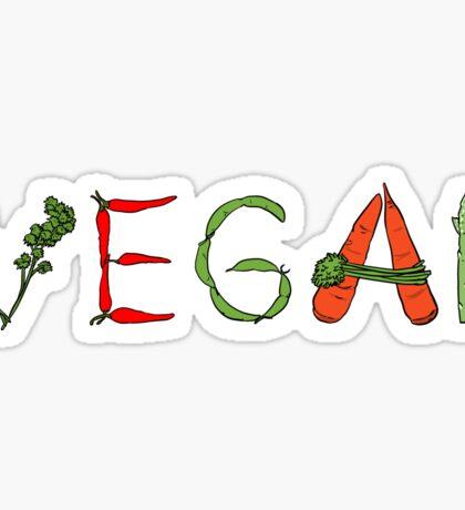 Vegan vegetables drawing color Sticker