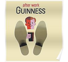 Guinness after work Guinness Poster