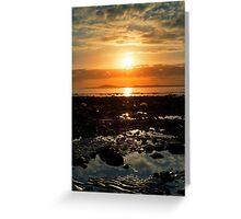 dark reflections at rocky beal beach Greeting Card