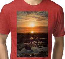 dark reflections at rocky beal beach Tri-blend T-Shirt