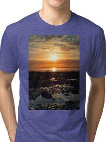 dark reflections at rocky beal beach Tri-blend T-Shirt