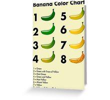 Banana color chart Greeting Card