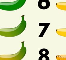Banana color chart Sticker