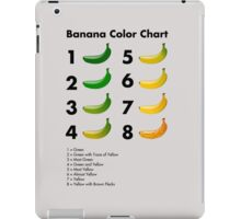 Banana color chart iPad Case/Skin
