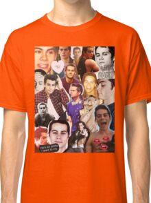 Dylan O'bae (O'brien) fangirl tumblr edit collage Classic T-Shirt
