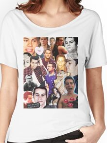 Dylan O'bae (O'brien) fangirl tumblr edit collage Women's Relaxed Fit T-Shirt