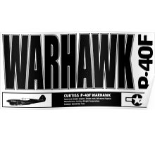 Warhawk fighter Poster