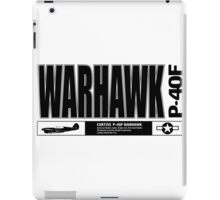 Warhawk fighter iPad Case/Skin