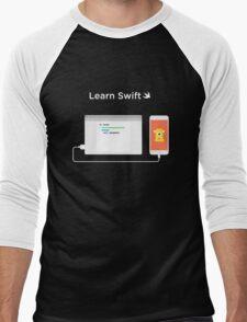 Learn How to Swift  Men's Baseball ¾ T-Shirt