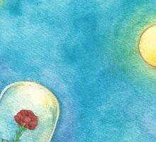 Rose on Asteroid Sticker