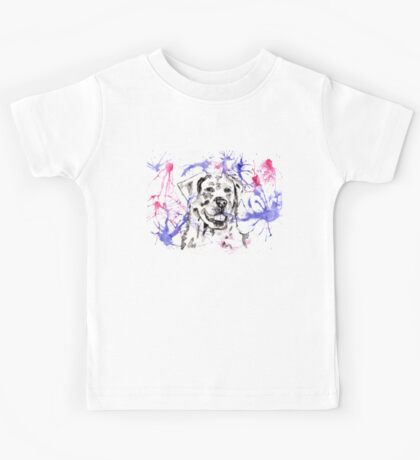 Abstract Ink - Golden Retriever Magenta and Purple Kids Tee