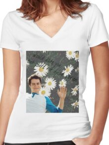Dylan O'bae (O'brien) fangirl tumblr edit collage Women's Fitted V-Neck T-Shirt