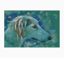 Saluki Dog Portrait Painting One Piece - Short Sleeve