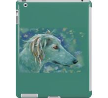 Saluki Dog Portrait Painting iPad Case/Skin