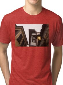 Old-Fashioned Wall Sconce and Revival Houses Tri-blend T-Shirt
