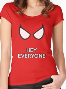 Spiderman - Hey Everyone Women's Fitted Scoop T-Shirt