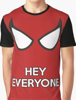 Spiderman - Hey Everyone Graphic T-Shirt