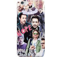 Robert Downey Jr. fangirl edit tumblr collage iPhone Case/Skin