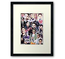Robert Downey Jr. fangirl edit tumblr collage Framed Print