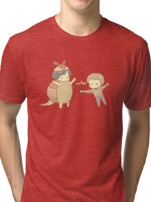 Hanukkah & the Holiday Armadillo Tri-blend T-Shirt