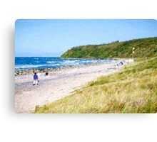 Hiddensee beach Canvas Print